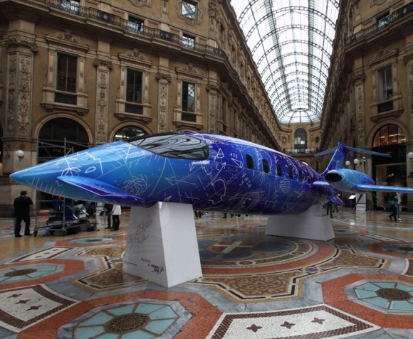 Italian Artist Uses Private Jet As Canvas For Work Of Art  Italia Living