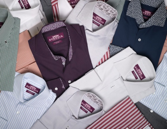 ETRUSCA Made in Italy shirts