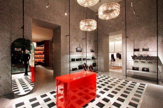 Valentino new store concept retail design by Sir David Chipperfield