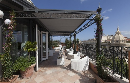 Regina Baglioni Roman penthouse living room external terrace