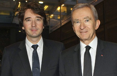 ANTOINE ARNAULT WITH HIS FATHER BERNARD