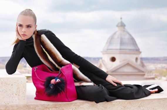 Fendi Fall Winter 2013-14 ad campaign by Karl Lagerfeld 4