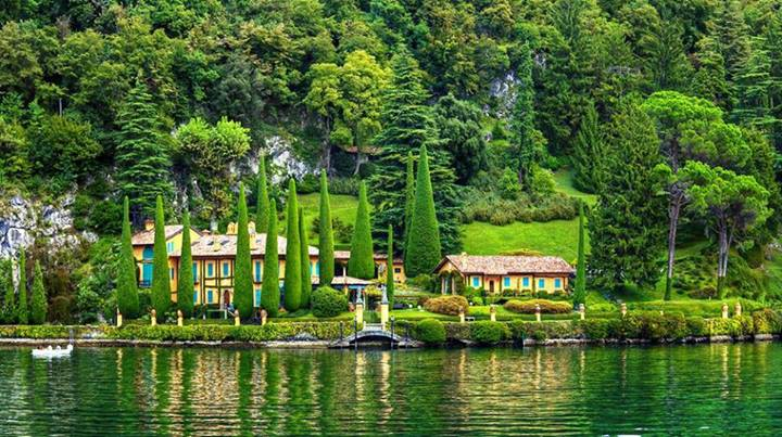 The green beauty of Lake Como, Italy