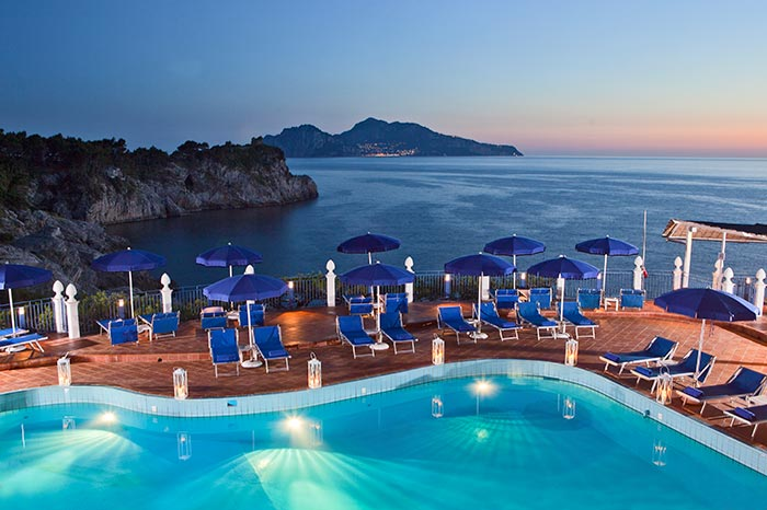 Hotel Delfino Sorrento pool view