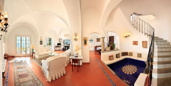 Living area of Casa Peppe Amalfi