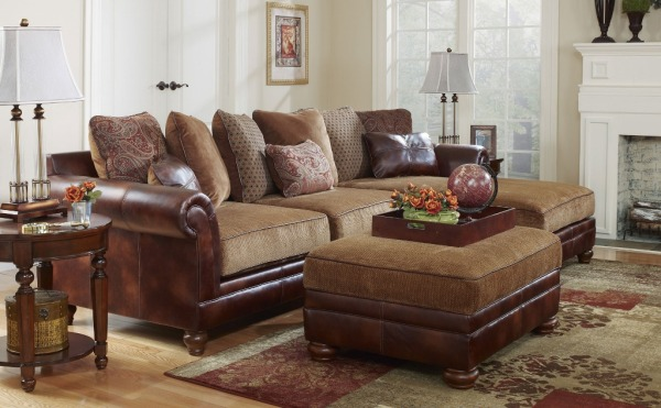 Tuscan inspired chaise sofa