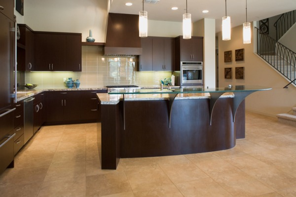 Cream And Rich Brown Kitchen