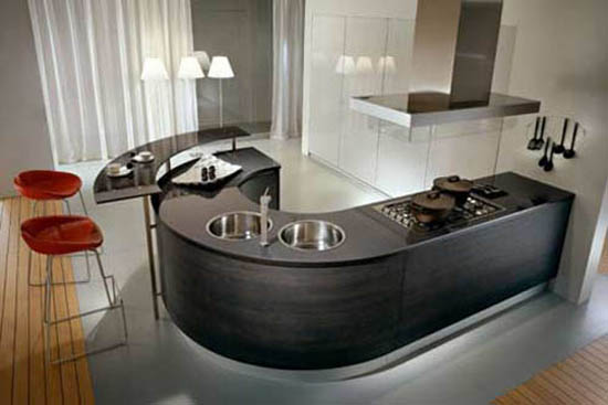 ergonomic kitchen by Pedini of Italy