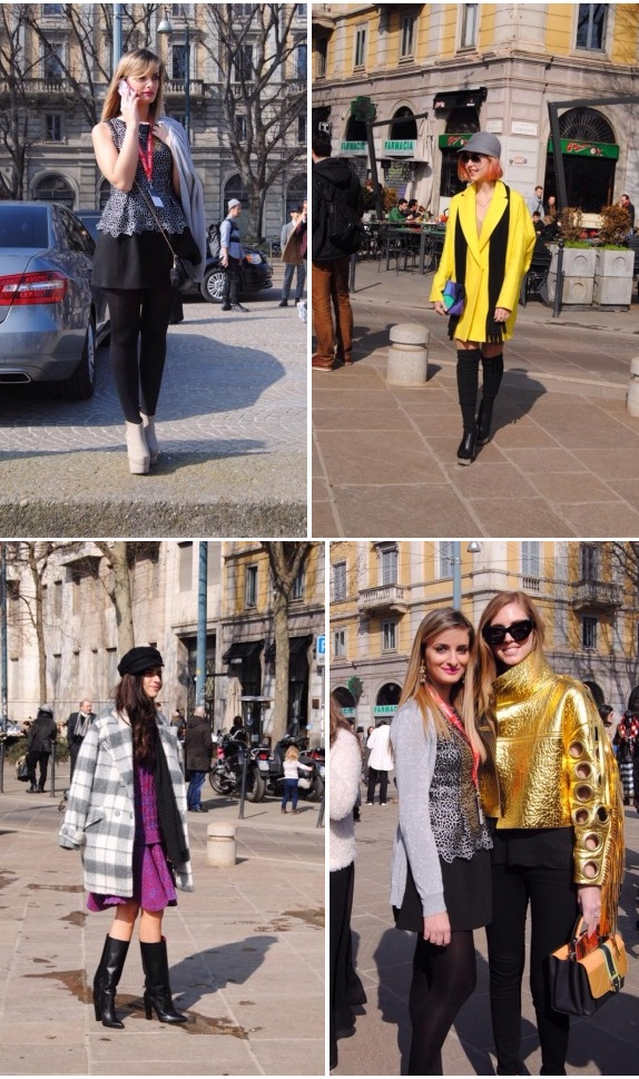 Milan Fashion Week bloggers group 1