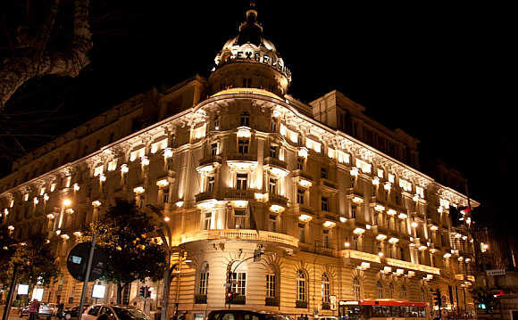 Westin Excelsior Rome at night