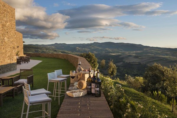 Tuscany wine view