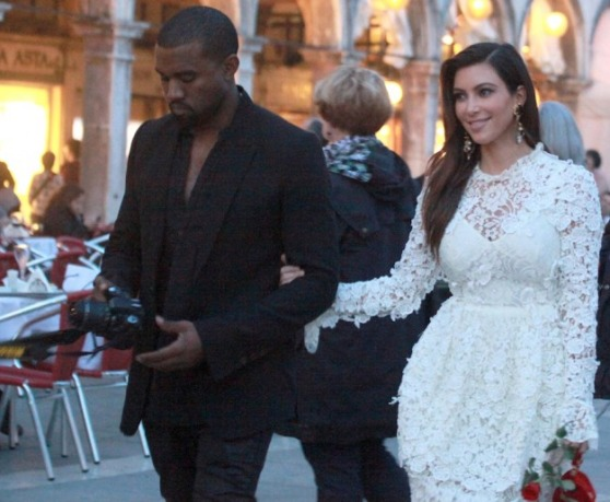 Kim Kardashian and Kanye West in Italy