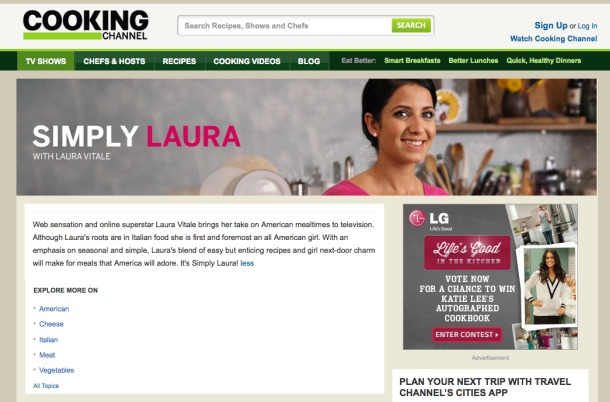Simply Laura on Cooking Channel