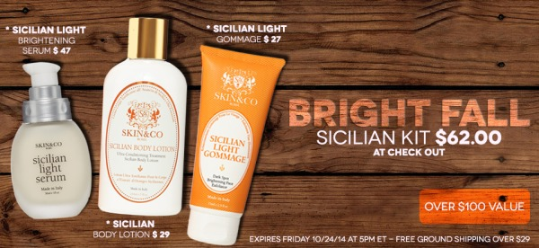 Sicilian Trio Brightens Skin in Fall