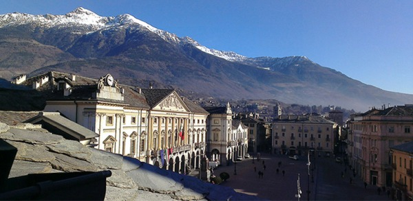 Aosta Italy piazza