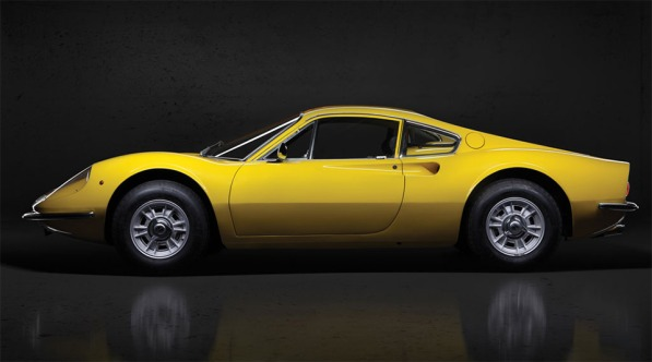 Ferrari Dino 246 GT L at Auction in Paris side