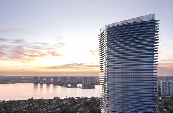Residences by Armani Casa Sunny Isles Miami view