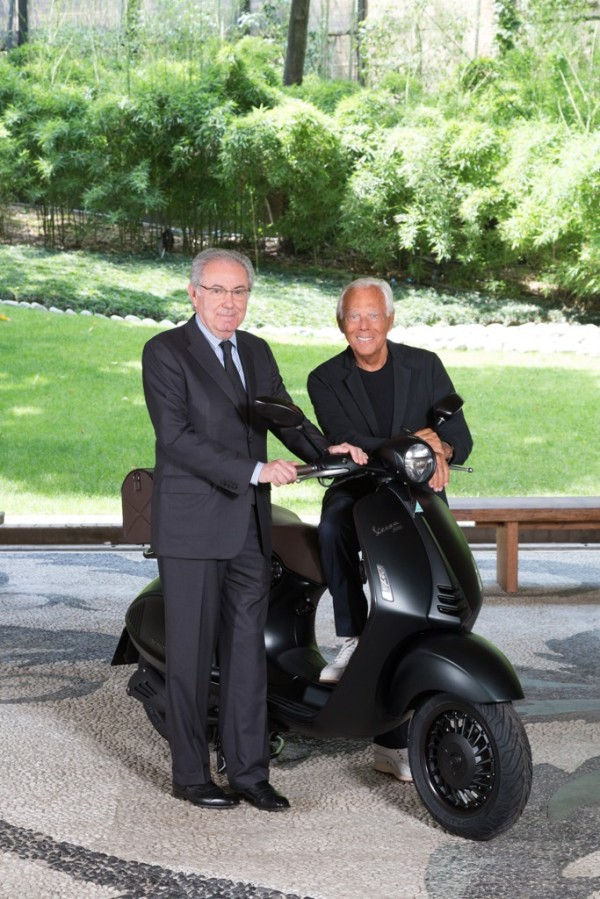 Giorgio Armani and Michele Colannino