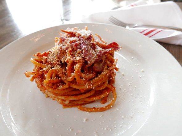 Bucatini All Amatriciana - Photo credit - Bico Stupakoff