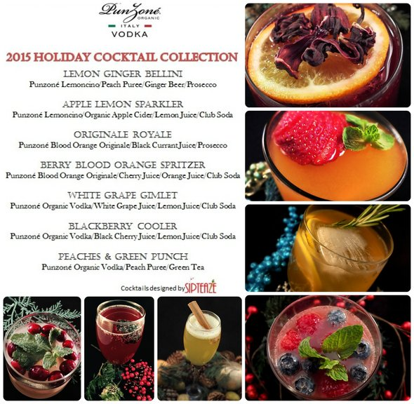 Punzone Holiday 2015 Cocktail Collection recipes