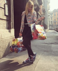 Noemi Guerriero Shopping in Milano