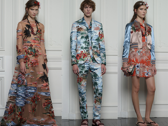 Valentino Hawaiian Couture collection women men