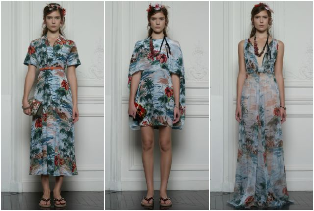 Valentino Hawaiian Couture collection women