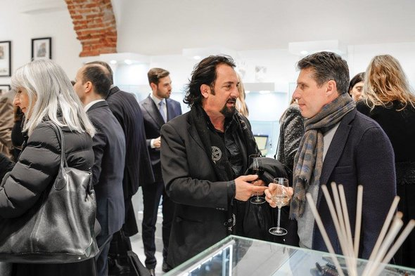 Guests at Montegrappa opening Milan