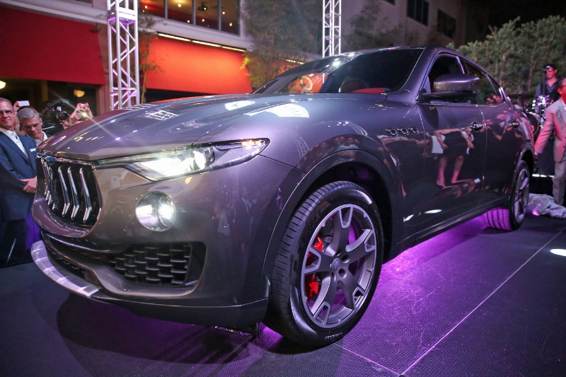 More than 500 VIP guests joined Maserati Fort Lauderdale as it presented the official unveiling of the highly-anticipated new Maserati Levante SUV in South Florida during a private outdoor reception on April 14, 2016 at downtown Las Olas hotspot, YOLO. (PRNewsFoto/Maserati Fort Lauderdale)