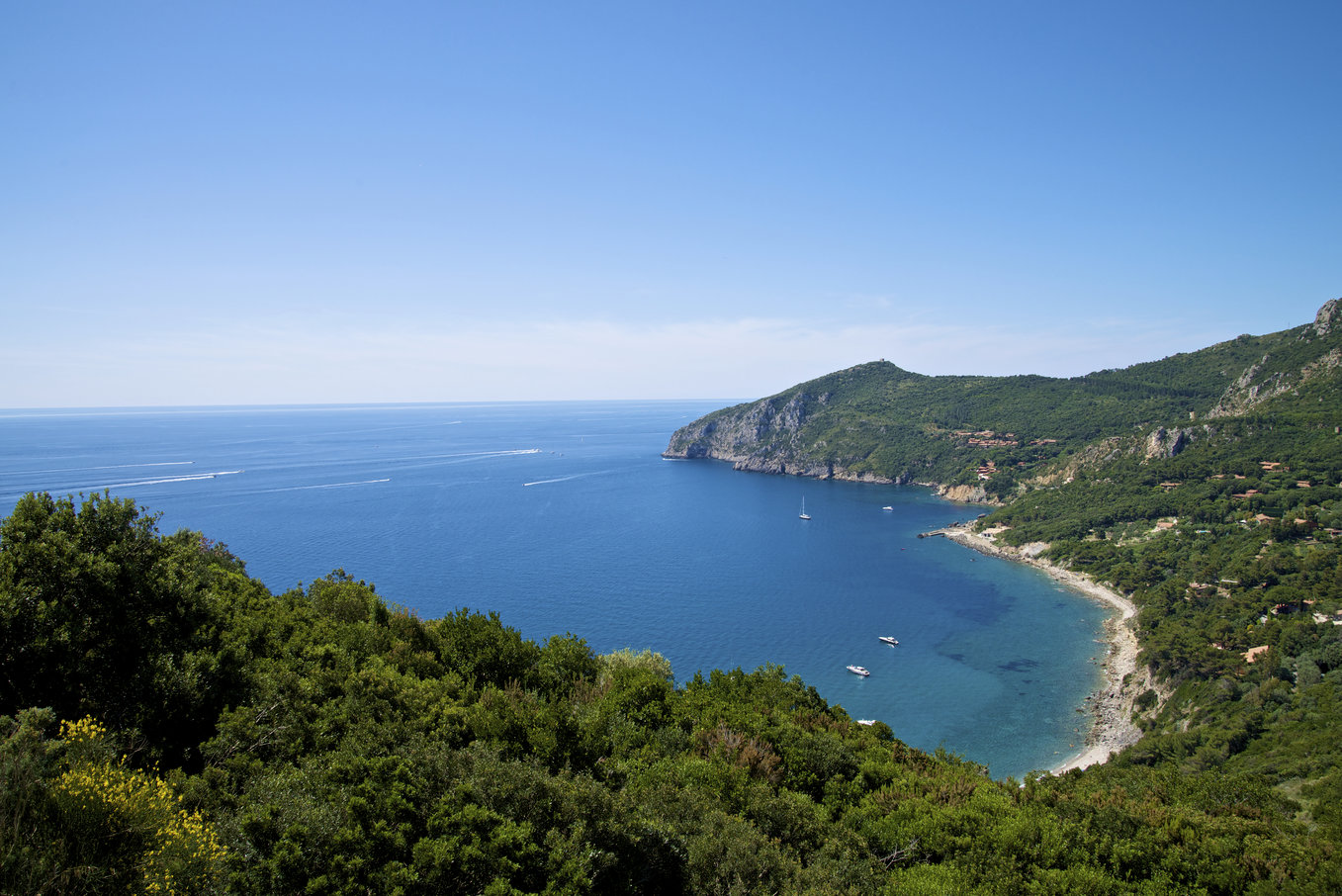 Creek and blue water of mediterranean sea in argentario - maremma - tuscany - Italy