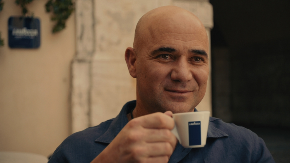 Lavazza and Andre Agassi
