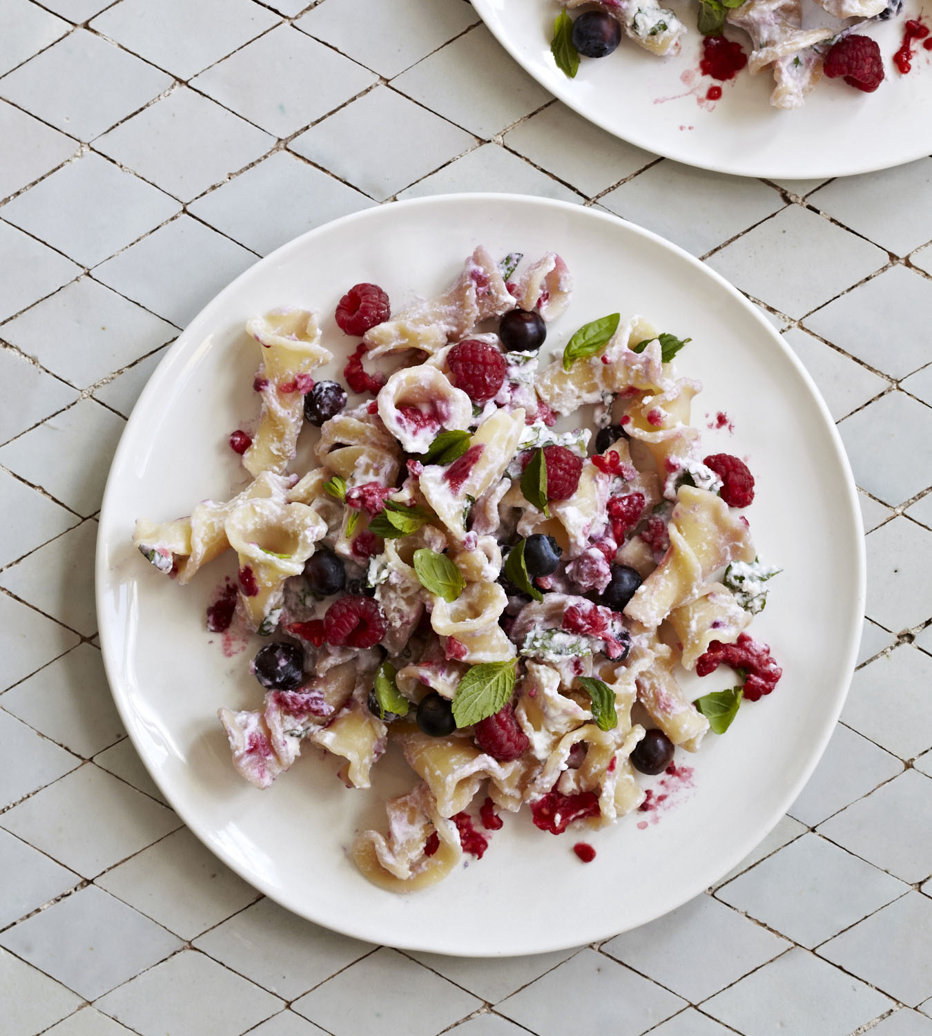 Pasta with ricotta & berries