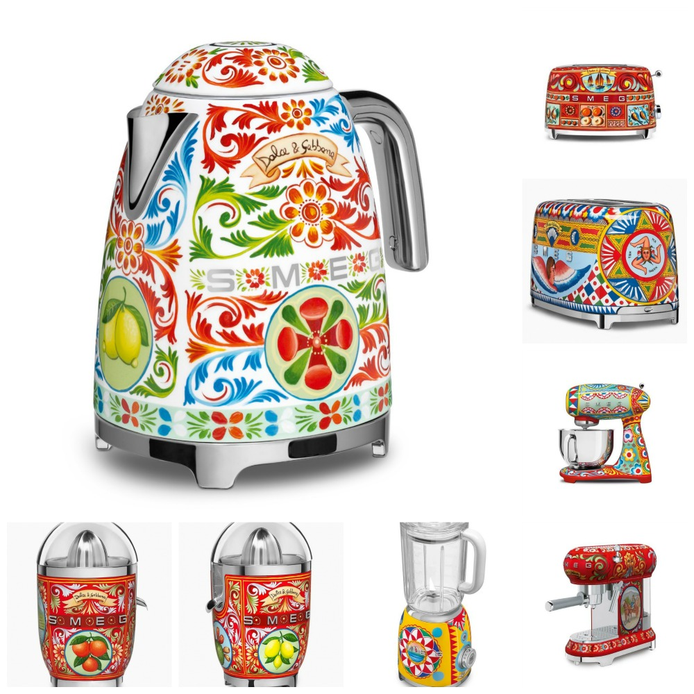 smeg launches dolce gabbana kitchen appliances italia