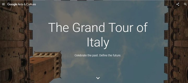 Google The Grand Tour of Italy